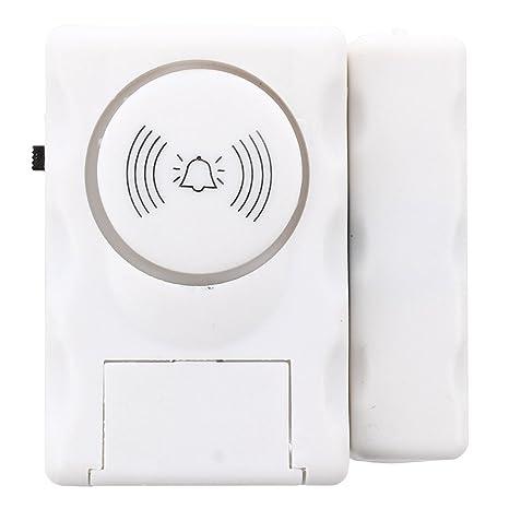 SODIAL(R)Detector magnetico de apertura puerta ventana Alarma Casa de seguridad
