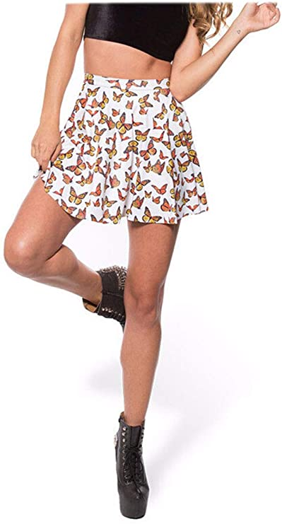 B2KEY®para Mujer Faldas de Verano Falda Plisada Falda Impresa ...