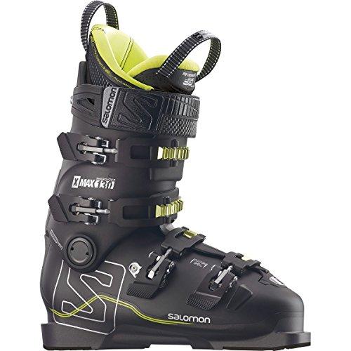 Salomon X Max 130 Ski Boot - Men's Black/Metallic Black/Acide Green, 28.5 (Salomon Skis Freeride)