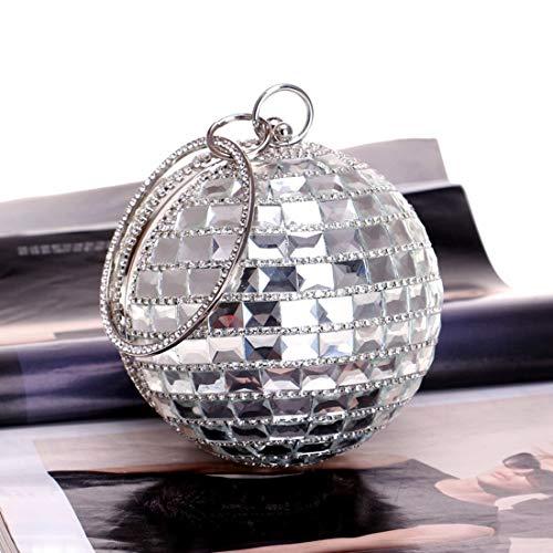 À Sac Bal Banquet Mariée color Drill Femmes De Vintage Bag Motif Fête Cijfay Silver Mariage Silver Pour Soirée wWSxtv7gcg