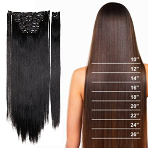 S noilite Extensions Synthetic Hairpiece 26inches straight product image