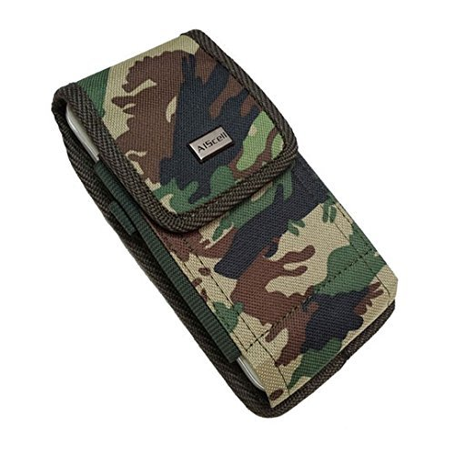 AIScell Universal Holster Case For Extra Large Phone [Heavy Duty Camouflage Nylon Case Metal Belt Clip Pouch]Compatible iPhone XS Max,XR, 8 Plus, 7 Plus, 6S/6 Plus With Protective Cover Or Naked Phone