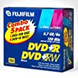 Fujifilm Combo 5 Pack DVD+R and DVD+RW
