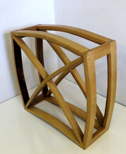 "Oak Wine Storage & Display Cube Bin, 20""H x 20''L x 8''D by Master Garden Products"
