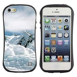 Suave TPU GEL Carcasa Funda Silicona Blando Estuche Caso de protección (para) Apple Iphone 5 / 5S / CECELL Phone case / / Nature Mountan Snow /