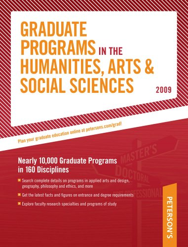 Grad Guides Book 2: Humanities/Arts/Soc Scis 2009 (Peterson's Graduate Programs in the Humanities, Arts & Social Sciences)