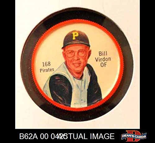 1962 Salada Coins # 168 Bill Virdon Pittsburgh Pirates (Baseball Card) Dean's Cards 3 - VG Pirates