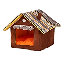 Cute House Dog Bed Pet Bed Warm Soft Dogs Kennel Dog House Pet Sleeping Bag Cat Bed Cat House