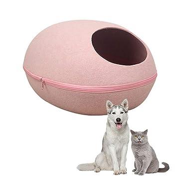 Pasabideak 1*casa de Mascotas de Interior Lindo Rose roja cáscara de Huevo Fieltro Mascota