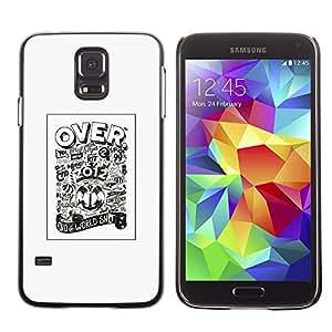 GOODTHINGS ( NO PARA S5 Mini ) Funda Imagen Diseño Carcasa Tapa Trasera Negro Cover Skin Case para Samsung Galaxy S5 SM-G900 - más de 2.012 carteles fútbol del fútbol