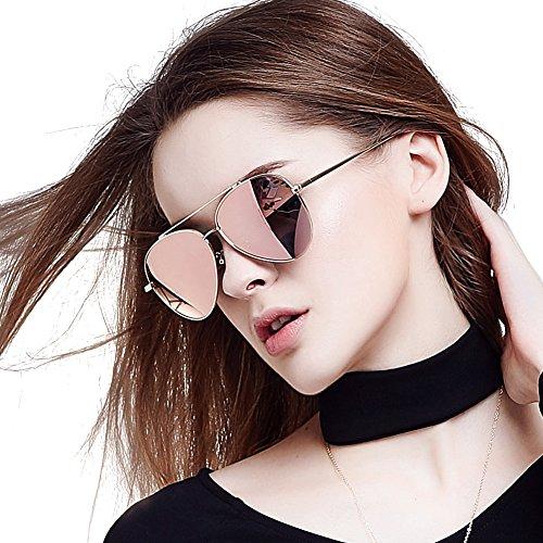 d04e55eb96c BLUEKIKI YEUX Aviator Sunglasses for Women Polarized Nickel-free Metal  Frame Design(Rose gold) - Buy Online in Oman.