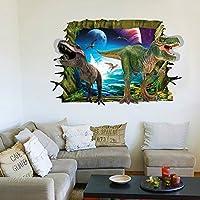 RRRLJL 3D Jurassic Park Dinosaur Wall Art Decor Home Wall...