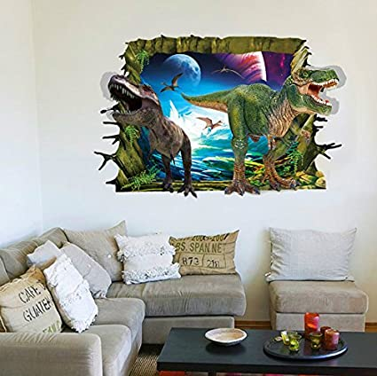 Elegant RRRLJL 3D Jurassic Park Dinosaur Wall Art Decor Home Wall Decal Sticker For  Kids Children Room