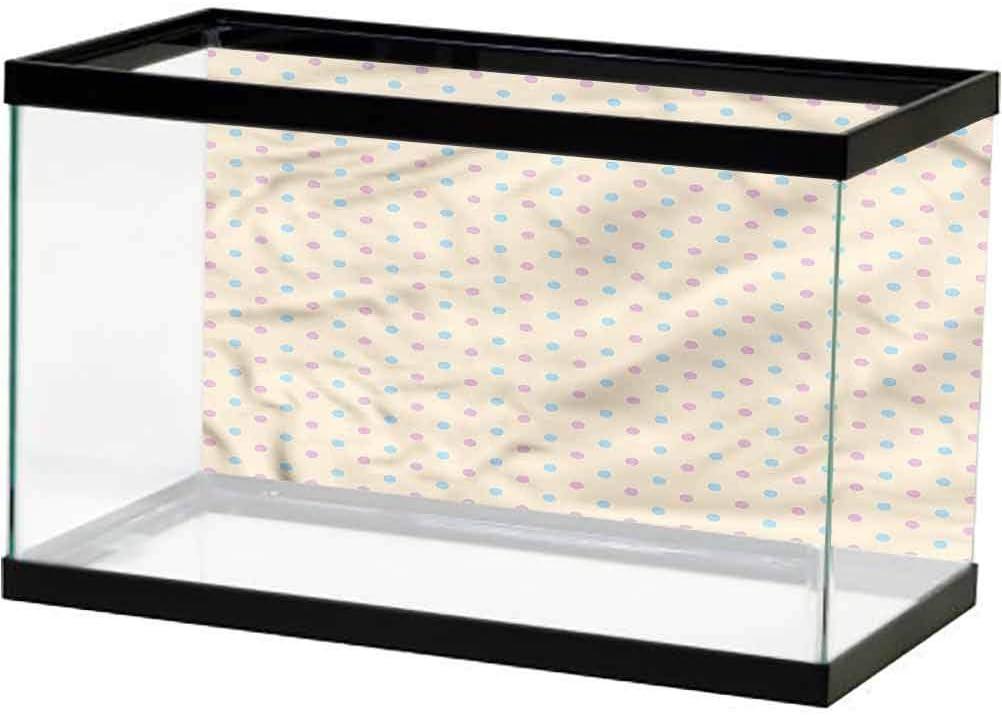 Amazon Com Scottdecor Polka Dots Glass Aquarium Kit Old Epoch Fashion Style Pvc Adhesive L48 X H18 Inch Pet Supplies