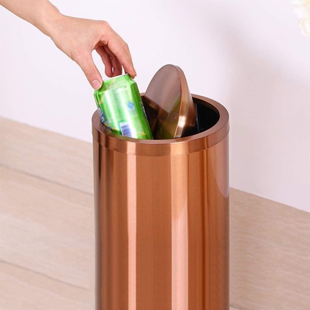 Poubelle avec couvercle poubelle de bureau poubelle multifonctionnelle for poubelle de bureau Color : Silver, Size : 10L