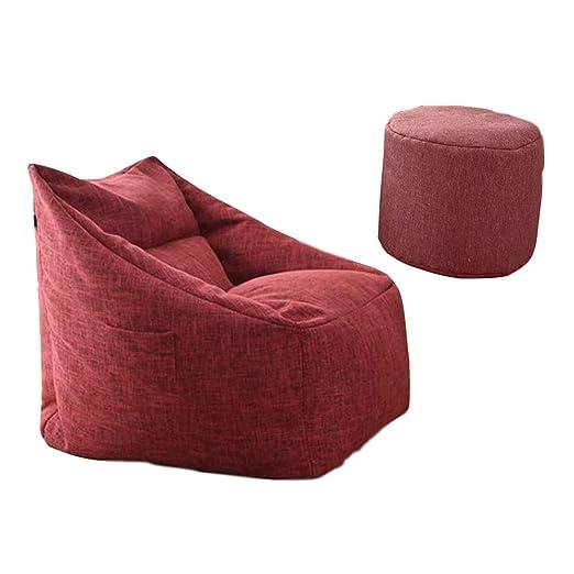 WARM ROOM Impermeable Lazy Bean Bag Sofá Puff Sofás Asiento ...