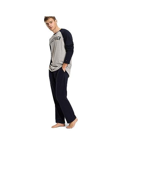 Tommy Hilfiger - Pijama - para hombre Grey Heather / Navy Blazer Large
