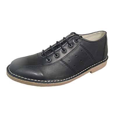 871e3310b11a0 Ikon Original Mens Marriott Mod 60s 70s Leather Bowling Shoe Black ...
