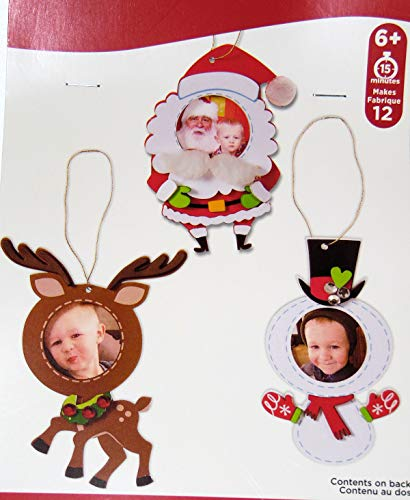 Christmas Photo Frame Ornaments Craft Fun Foam Kit - Holiday Makes 12 Ornaments