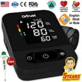 Dr Trust USA Digital Smart Dual Language Talking Automatic Electronic Blood Pressure Monitor Machine (Black)