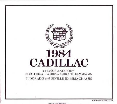 amazon com: bishko automotive literature 1984 cadillac eldorado seville  wiring diagrams factory oem specifications: automotive