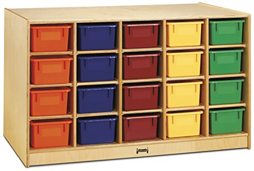 Jonti-Craft 4425JC Double-Sided Island 40 Cubbie-Tray with Colored Trays