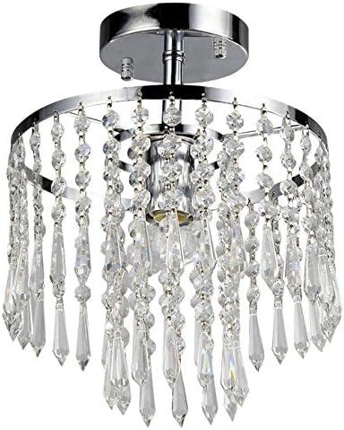 Whse of Tiffany RL1382 1 Seek 1-Light Chrome Crystal Chandelier