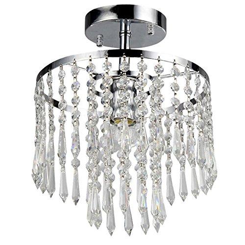 Whse of Tiffany RL1382/1 Seek 1-Light Chrome Crystal Chandelier