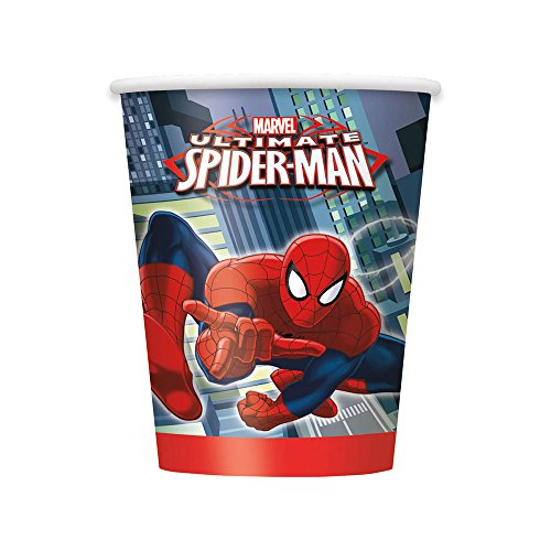 Unique Spiderman Paper Cups, 8-Count, 9-Ounce