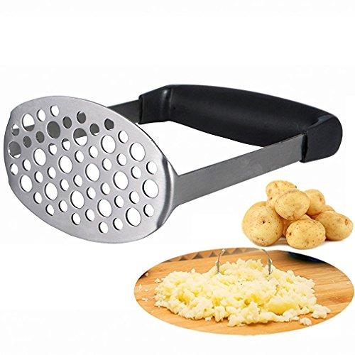 Potato Masher - Smaier Smooth Potato Masher Stainless Steel potato press...