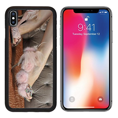 MSD Premium Apple iPhone X Aluminum Backplate Bumper Snap Case IMAGE ID: 18335766 Close up picture of model wearing designer shoes Backstage Beauty Box