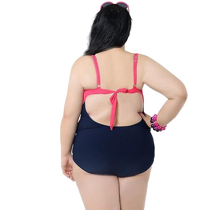 Plus Size Badeanzug große größen Übergröße Swimsuit Einteiler Bikini  Bademode A-Line push up Bikini Hoche Taille Badeanzug Farbe Rot Größe 6XL    EU 62  ... b5e8158870