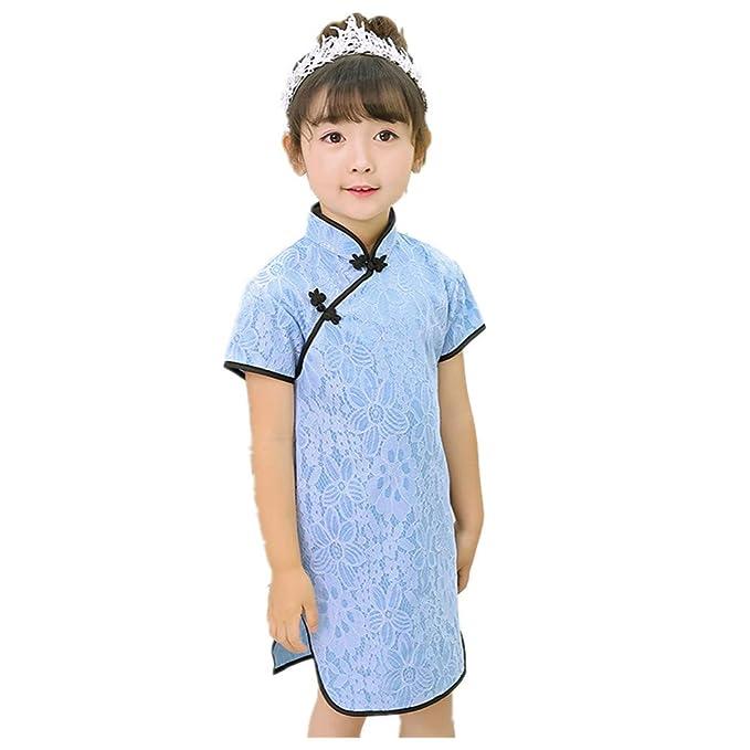 f16915aacaa0 Amazon.com  Lace Baby Girls Slim Dress Young Woman Wedding Dresses ...
