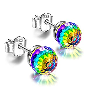 Alex Perry Regalo per Lei, Orecchini da Donna Fantastic World Series, Argento Sterling 925, 6-8mm Cristalli da Swarovski… 1
