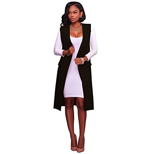 haosshop – Chaqueta – para mujer negro negro