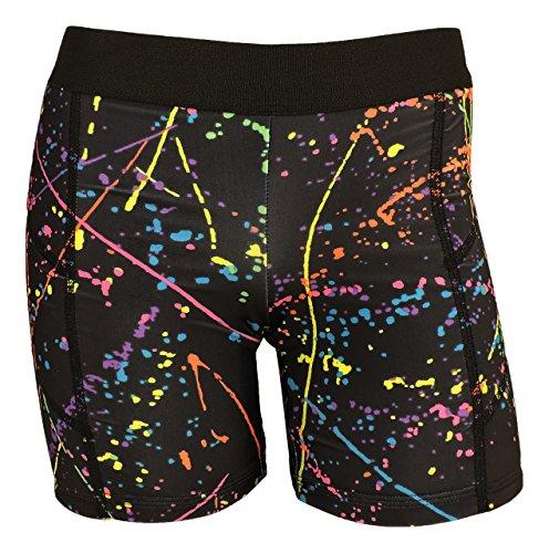 MadSportsStuff Pro Line Softball Sliding Shorts (Paint Splatter, Medium) (Sliding Shorts Softball)