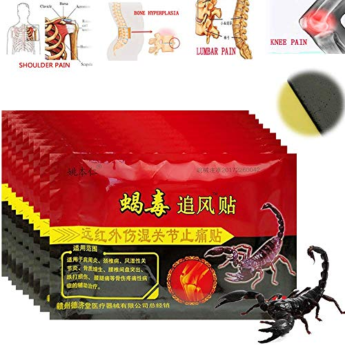 Freyamall 80 Pcs/10 Bags Knee Joint Pain Relieving Patch Chinese Scorpion Venom Extract Plaster for Body Rheumatoid Arthritis Pain Relief