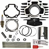 ZOOM ZOOM PARTS Cylinder FITS YAMAHA PW 50 PW50 QT 50 QT50 Piston Ring Gasket Top End Set Kit NEW