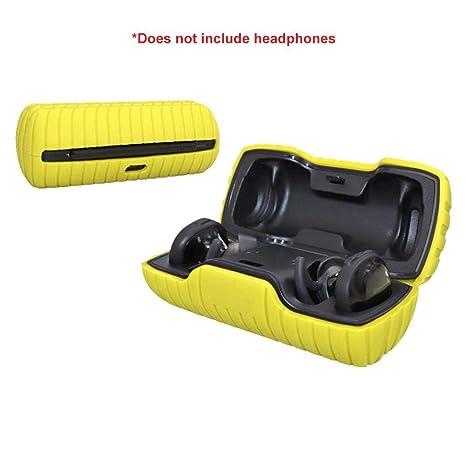 fridaymonga Estuche De Auriculares,Funda Protectora De Silicona para Auriculares Inalámbricos Bluetooth Bose SoundSport Free con Puerto De Carga ...
