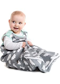 For 0 to 6 Months in Grey Cloud with Turquoise Edging Design 1.0 and 2.5 Tog included Mama Designs Babasac Multi Tog Baby Sleeping Bag