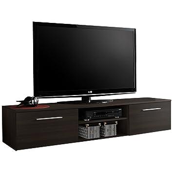 Justyou Boni Ii Meuble Tv Lowboard Hxlxl 37x180x45 Cm Wenge Mat