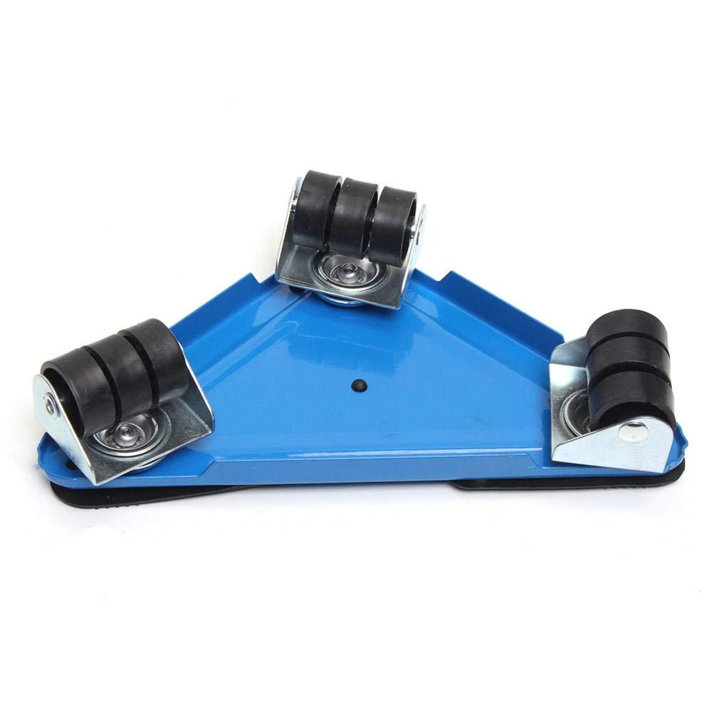 5PCS Furniture Lifter Moves Triple Wheels Mover Sliders Tools Kit Furniture Moving System - Blue