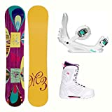 snowboard package - Millenium 3 Escape Cosmo Womens Complete Snowboard Package - 148cm/7.0