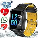 1.3″ TF2 Sport Watch Fitness Tracker Blood Pressure HD Screen Heart Rate Monitor IP68 Waterproof Pedometer Stopwatch Smartwatch for Kid Men Women Wristband Swim Run Travel Activity Tracker iOS Android For Sale