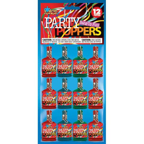 pull string party poppers - 2