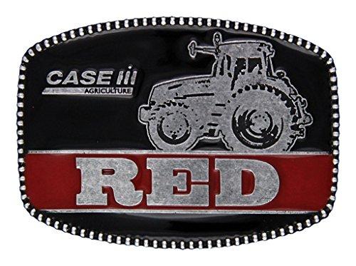 Montana Silversmiths Western Belt Buckle Mens Case IH Black (Montana Silversmiths Belt)