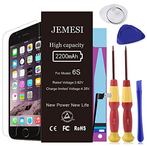 JEMESI Battery for iPhone 6s with Repair Tools Kits - Instru