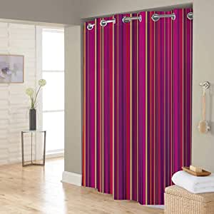 Right Canvas Multi Color 180cm x 200cm Shower Curtain - RG138NPIC00117