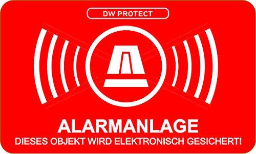 55 Gratis Aufkleber Alarmanlage Alarmgesichert Hinweis