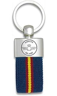 Tiendas LGP Albainox- Llavero Bandera de España y Emblema Ejército del Aire, Plateado: Amazon.es: Equipaje